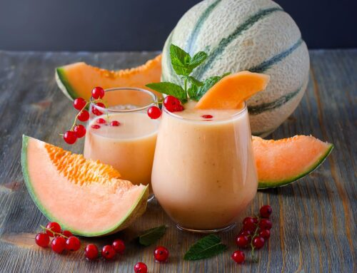 SMOOTHIE AL MELONE E YOGURT